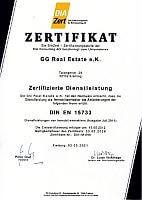 Immobilienmakler DIN EN 15733 Zertifizierung